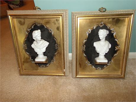 Pair of roman style pictures