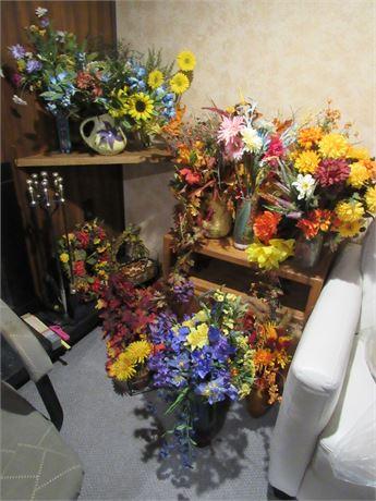 Silk Flower Arrangement Clean Out