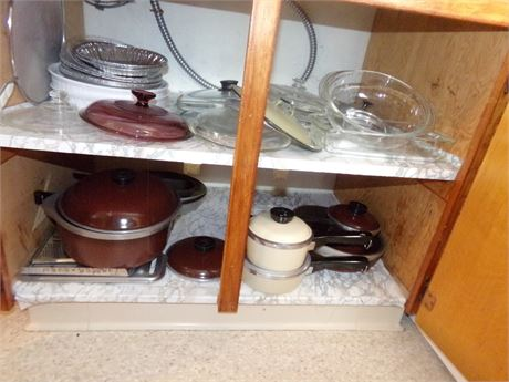 Club Pots and Pans, Lots of Lids, and Casserole Dishes