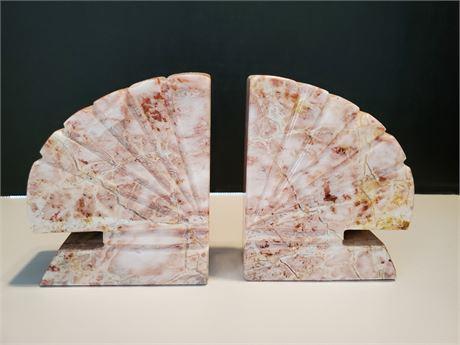 Carved Granite Bookends