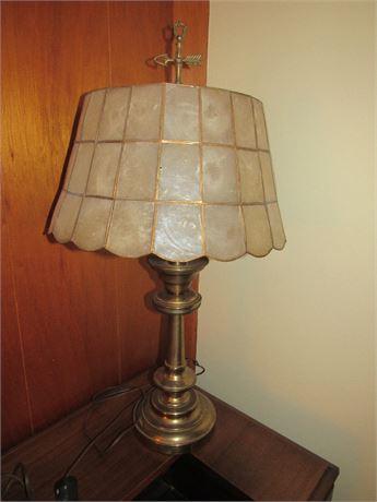 Capiz Shell & Brass Lamp