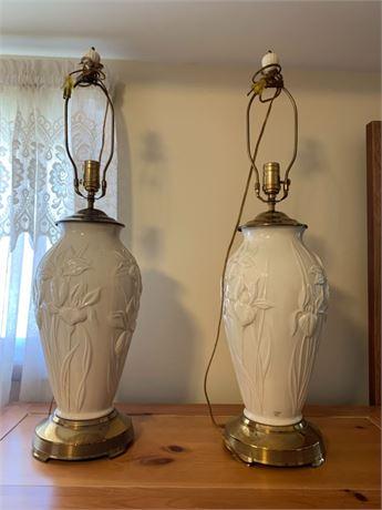 Twin Lenox Lamps