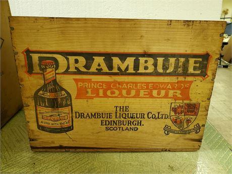 Vintage Drambuie Liqueur Crate
