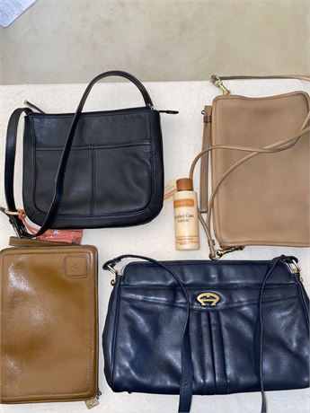 Coach Brand Leather Handbag and More