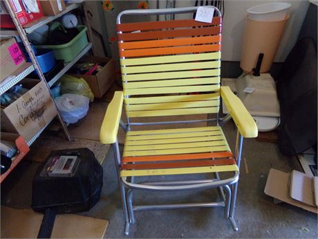 Vintage Folding Rocking Patio Chair