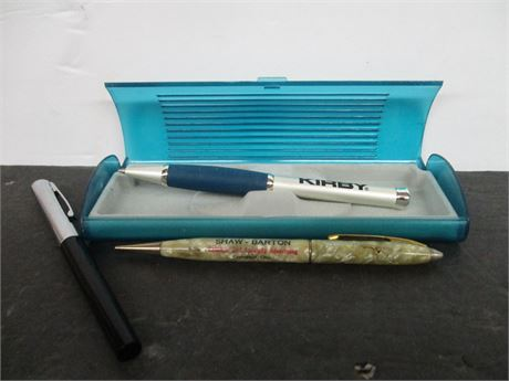 3 Vintage Premium Advertising & Fountain Pens Mechanical Pencils
