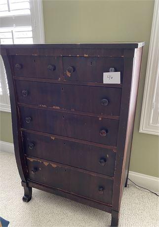 Antique Empire Period Highboy Dresser