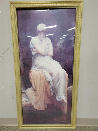 """Fredrick Leighton 1890 """"Solitude"""" Framed Poster"""