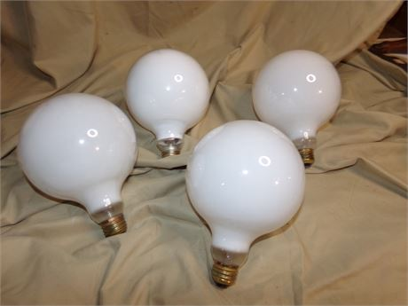 4 Large Vanity Light Bulbs