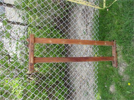 Rare Antique Primitive Double Wood Oxen Livestock Yoke Harnesss