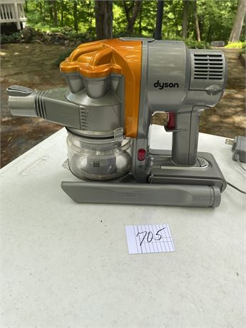 Dyson Hand Held Vacuum with Attachment - works