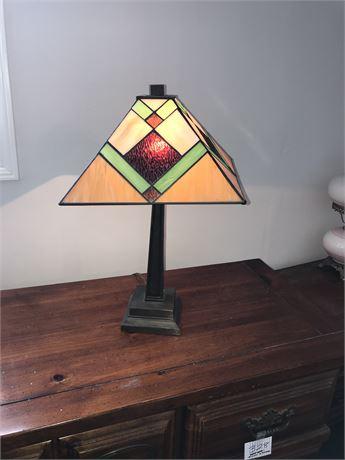 Bedside Leaded Glass (Tiffany Style) Lamp