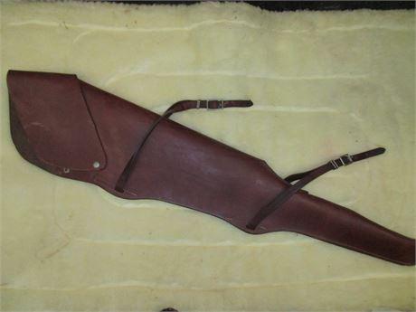 Western Full Length Heavy Custom Leather Saddle Rifle Scabbard