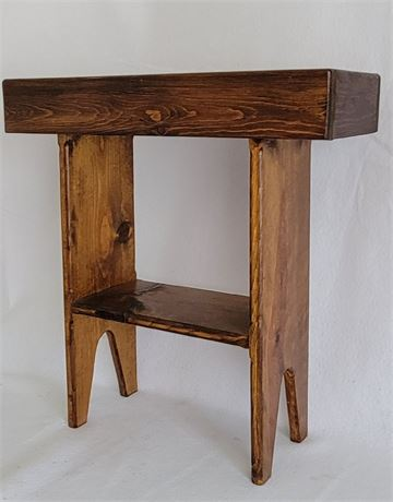 MCM Wood Table/Plant Stand