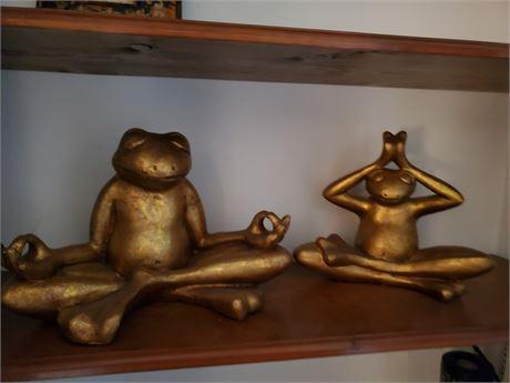 Pottery Buddha Frogs