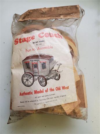 Vintage Stage Coach Wood Model Kit
