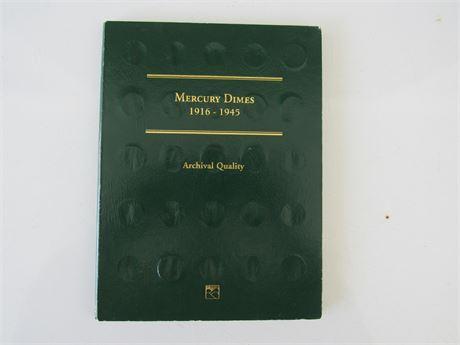 Mercury Dime Lot in book