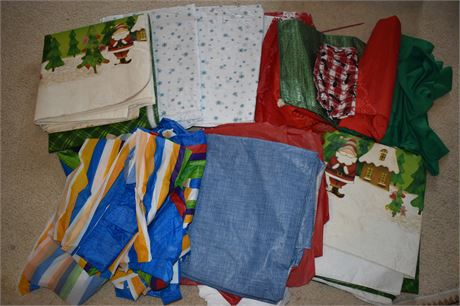 Lot of table clothes-various sizes