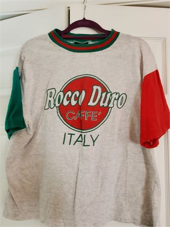 Vintage Rocco Duro Cafe Italy T Shirt