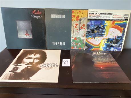Vintage Vinyl Records Including Fleetwood Mac, Bob Seger, Linda Ronstadt, Etc.