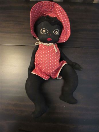 Black American Doll w/ Movable Limbs