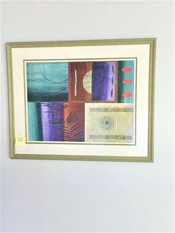 Framed Geometric Print