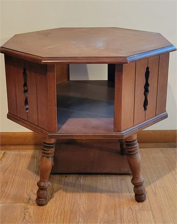 Octagonal Rotating Side Table