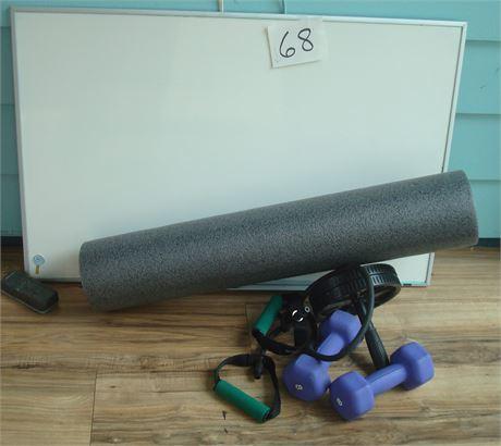 Exercise Equipment & White Board