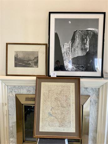 U.S. Natural Landmarks Framed Art Lot
