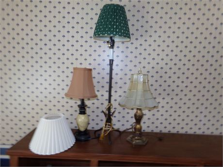 3 Lamps and a Shade
