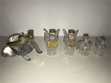 Crystal Frog and Crystal Angels Lot
