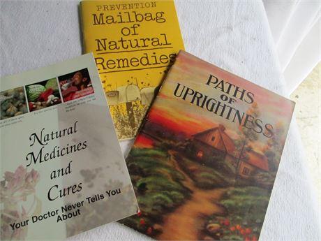 3 Vintage Home Medicinal Remedies & Path of Uprightness Books Lot
