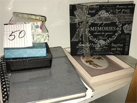 Memory Books, Note Pads, Frame and Writing Paper