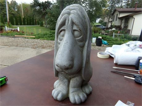 Heavy Cement Dog Statue