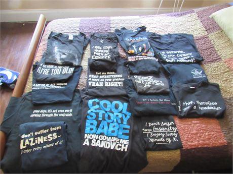 T-shirt Lot: M-L Funny Sayings