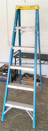 Werner 6 Foot Fiberglass & Aluminum Step Ladder
