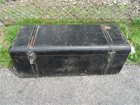 Antique Excelsior Metal Model T Rumble Seat Luggage Trunk 1920's Circa