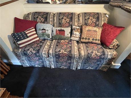 Decorative Pillow Lot inc 1 signed Charles Wysocki and 3 Signed Warren Kimble