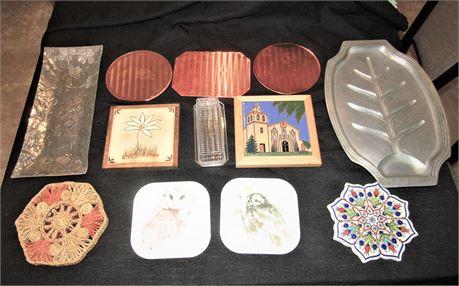 Cast Aluminum Meat Platter, Aluminum Deli Tray, Hot Plates and Trivets