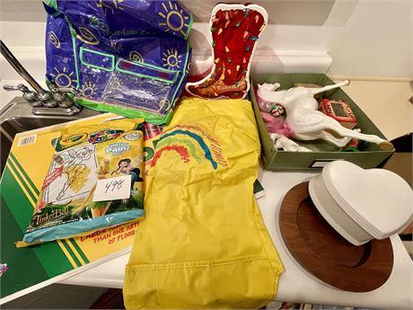 Misc. Art Items w/ Crayola Floor Pad and New Crayola Color Wonder Tinkerbell