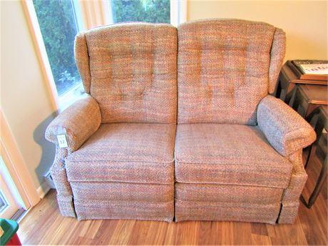 LazyBoy Upholstered Double Reclining Loveseat