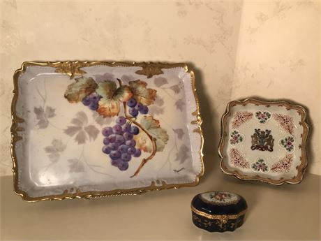 Three Pieces of Limoges France