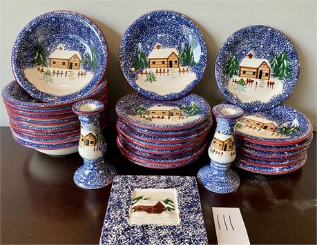 The Cook's Bazaar Gourmet Collection Hand Painted Ceramic Dishes