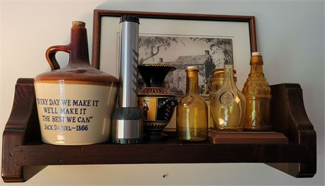Shelf Cleanout - Bottles, Art, Etc