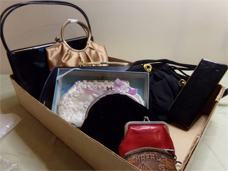 Vintage Evening Bags, Changes Purses, and Eye Glass Holder