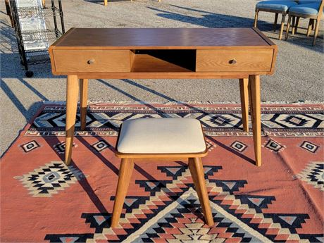 MCM Style Desk and Stool