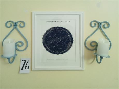 Sconces & Art Grouping