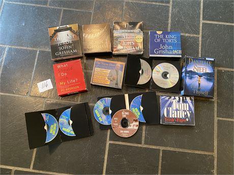 Audio Books on CD Featuring Dan Brown, John Grisham, and Danielle Steele