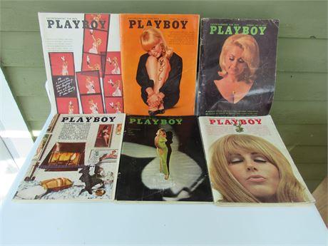 1960s Playboy Magazines