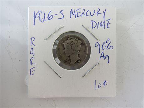 1926 S Mercury Dime Rare